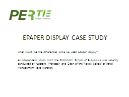 EPAPER DISPLAY CASE STUDY