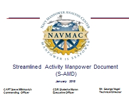 Streamlined Activity Manpower Document