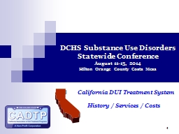 1 DCHS Substance Use Disorders