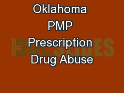 Oklahoma PMP Prescription Drug Abuse