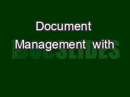 Document Management  with