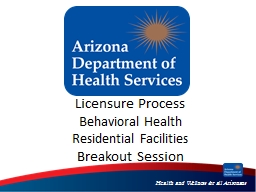 Licensure Process Behavioral Health