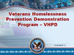 Veterans Homelessness Prevention Demonstration Program – VHPD