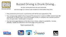 Buzzed Driving is Drunk Driving�