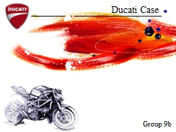Ducati Case Group 9b Aesthetic values