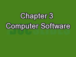 Chapter 3 Computer Software