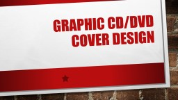 Graphic CD/DVD  cover design