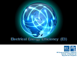 Electrical Energy Efficiency (E3)