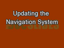 Updating the Navigation System