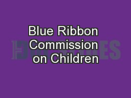 Blue Ribbon Commission on Children