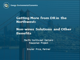 Getting More from DR in the Northwest: PowerPoint PPT Presentation