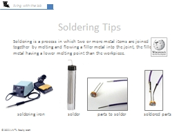 living with the lab Soldering Tips PowerPoint PPT Presentation