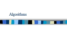 Algorithms Problems, Algorithms, Programs