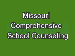 Missouri Comprehensive School Counseling