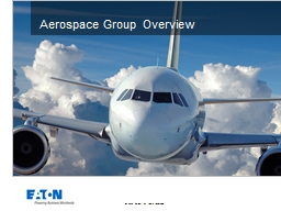 Aerospace Group Overview