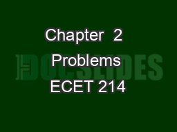 Chapter  2  Problems ECET 214