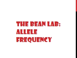 The Bean Lab: Allele Frequency