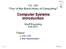 Computer Systems Introduction