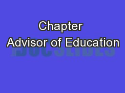 Chapter Advisor of Education