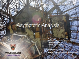 Asymptotic Analysis Outline