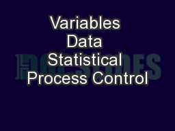 Variables Data Statistical Process Control
