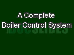 A Complete Boiler Control System