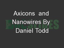 Axicons  and Nanowires By Daniel Todd