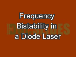 Frequency Bistability in a Diode Laser