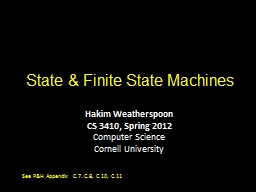 State & Finite State Machines PowerPoint PPT Presentation