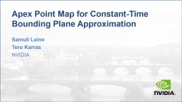 Apex Point Map for Constant-Time Bounding Plane Approximation