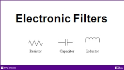 Electronic Filters Overview
