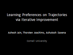 Learning Preferences on Trajectories via Iterative Improvement