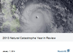 2013 Natural Catastrophe Year in Review