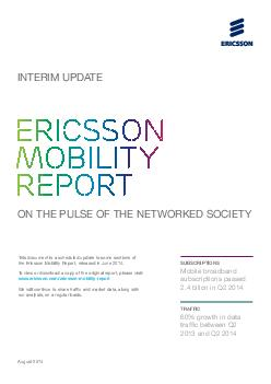 This document is a scheduled update to some sections of the Ericsson Mobility Report released in June