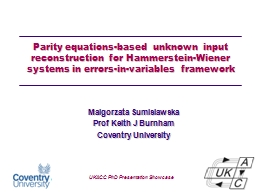 Parity equations-based unknown input reconstruction