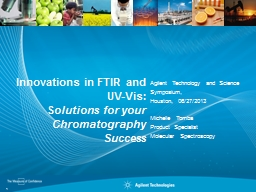 Innovations in FTIR and UV-Vis: