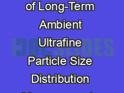 Inter-comparison of Long-Term Ambient Ultrafine Particle Size Distribution Measurements at a Near