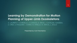 Learning by Demonstration for Motion Planning of Upper-Limb Exoskeletons