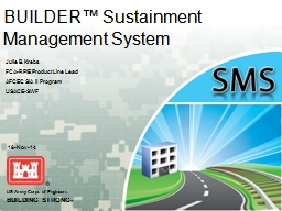 BUILDER™ Sustainment Management System