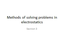 Methods of solving problems in electrostatics