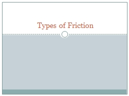 Types of Friction What is Friction?