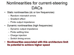 Nonlinearities for current-steering DACs