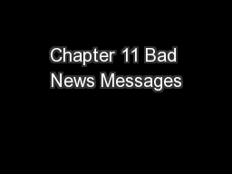 Chapter 11 Bad News Messages