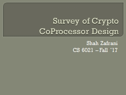 Survey of Crypto  CoProcessor