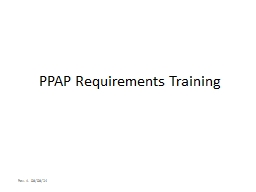 PPAP Requirements Training