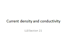 Current density and conductivity