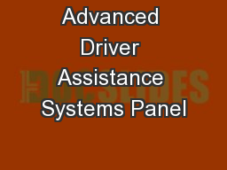 Advanced Driver Assistance Systems Panel
