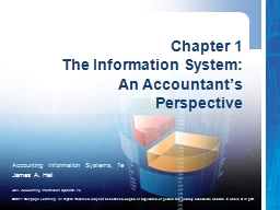Chapter 1 The Information System:
