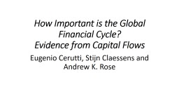 How Important is the Global Financial Cycle?