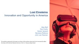 Lost  Einsteins Innovation and Opportunity in America